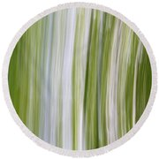 Summer Day Abstract Round Beach Towel