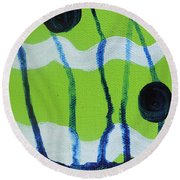 Hot Summer Day Round Beach Towel