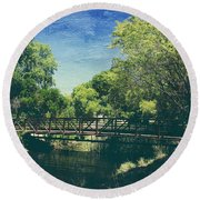 Summer Draws Near Round Beach Towel by Laurie Search