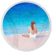 Summer Dreams Round Beach Towel