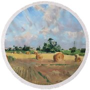 Summer Fields In Georgetown On Round Beach Towel