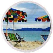 Summer I N Thailand Round Beach Towel