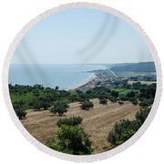 Summer In Italy Round Beach Towel