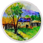 Summer Landscape 316062 Round Beach Towel