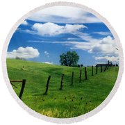 Summer Landscape Round Beach Towel