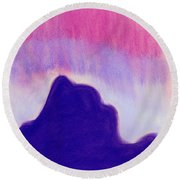 Summer Midnight Round Beach Towel