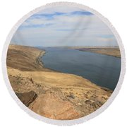 Summer On The Columbia River Round Beach Towel