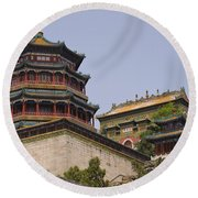 Summer Palace, Beijing Round Beach Towel