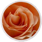 Summer Peach Round Beach Towel