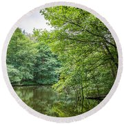 Summer Pool Cannock Chase Round Beach Towel