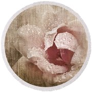 Summer Rose #1 Round Beach Towel