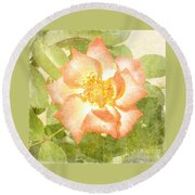Summer Rose Round Beach Towel