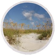 Summer Sea Oats Round Beach Towel