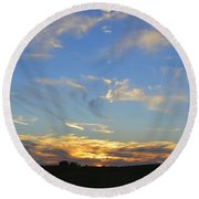 Summer Sets Panorama Round Beach Towel