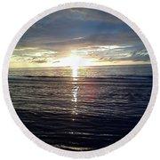 Summer Solstice Sunset Round Beach Towel