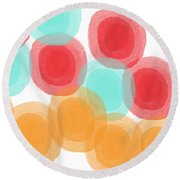 Summer Sorbet- Abstract Painting Round Beach Towel