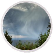 Summer Squall Round Beach Towel by Randy Hall