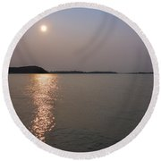 Summer Sun Late Afternoon Round Beach Towel