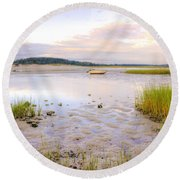 Summer Sunrise At Little Neck Round Beach Towel