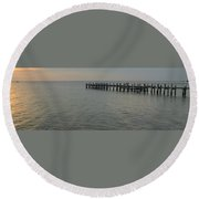 Summer Sunrise Oak Bluffs Round Beach Towel