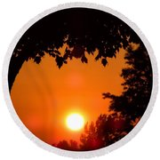 Summer Sunrise Right Side Round Beach Towel