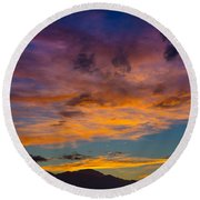 Summer Sunset Colorado Round Beach Towel