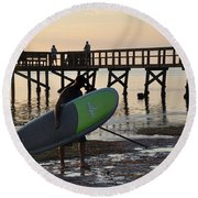 Summer Surfer Round Beach Towel