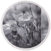 Summer Whispers Collage Round Beach Towel