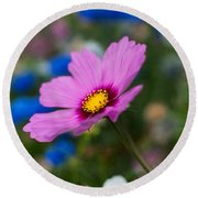 Summer Wild Blooms Round Beach Towel