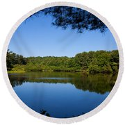 Summers Blue View Round Beach Towel