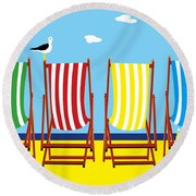 Summers Comin Round Beach Towel