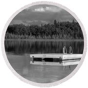 Summertime Reflections Round Beach Towel