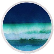 Summertime Surf Round Beach Towel