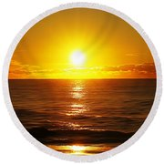 Sun 8 Round Beach Towel