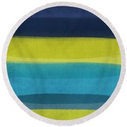 Sun And Surf Round Beach Towel by Linda Woods