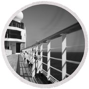 Sun Deck Shadows Round Beach Towel