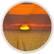 Sun Delight  Round Beach Towel