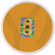 Sun Flower II Round Beach Towel