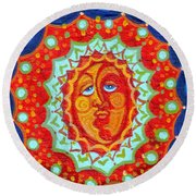 Sun God Round Beach Towel