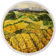 Sun Harvest Round Beach Towel