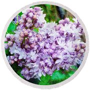 Sun Lit Lilac The Sweet Sign Of Spring Round Beach Towel