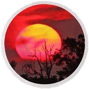 Louisiana Sunset On Fire Round Beach Towel