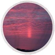 Sun Pillar Horizontal Round Beach Towel