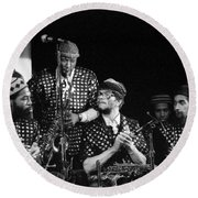 Sun Ra Arkestra With John Gilmore Round Beach Towel