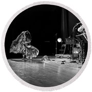 Sun Ra Dancer And Marshall Allen Round Beach Towel by Lee  Santa