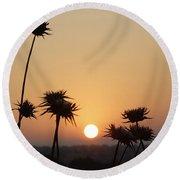 Sun Rise On Bethsaida Round Beach Towel
