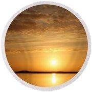 Sun Rise Round Beach Towel