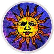 Sun Salutation Round Beach Towel
