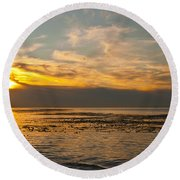 Sun Set Round Beach Towel