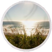 Sun Star At The Beach Round Beach Towel